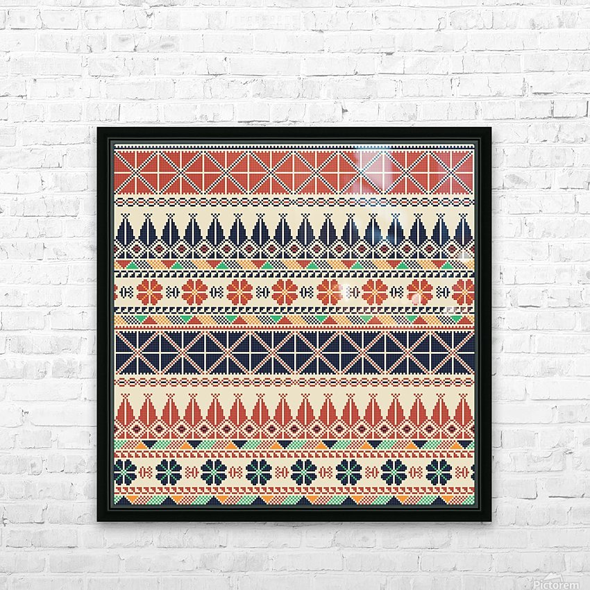 Palestinian embroidery pattern  HD Sublimation Metal print with Decorating Float Frame (BOX)
