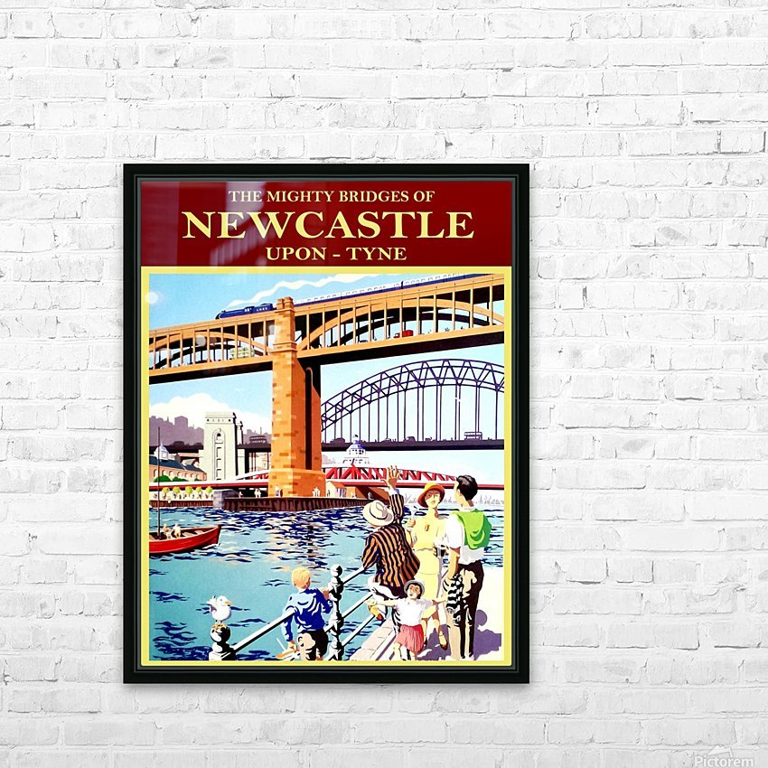 Newcastle upon Tune HD Sublimation Metal print with Decorating Float Frame (BOX)