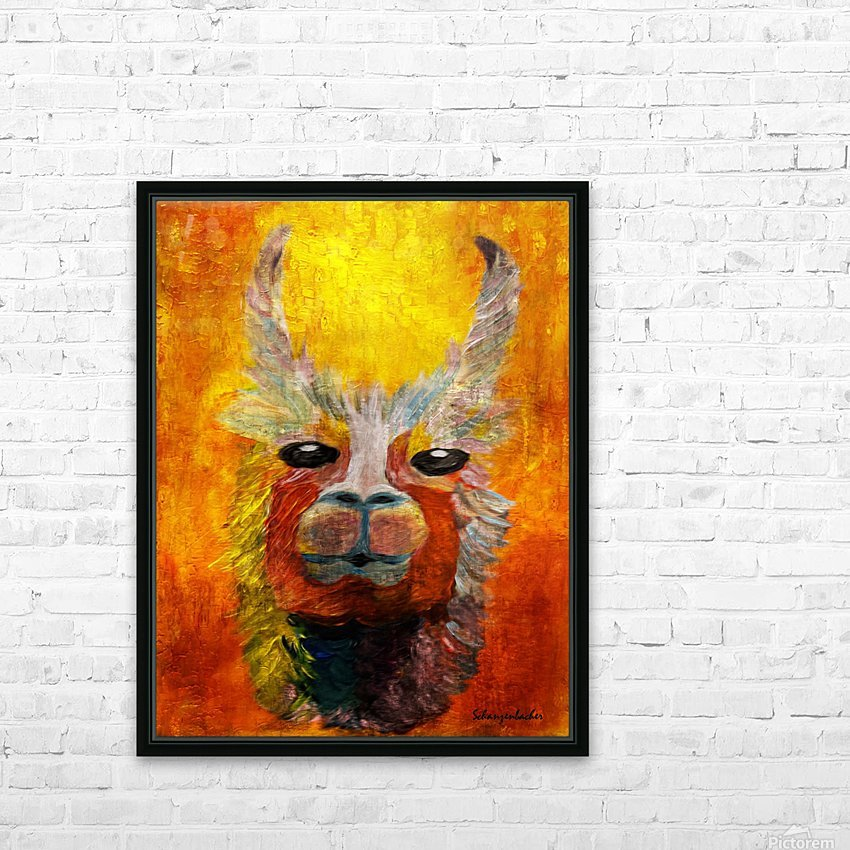 Alpaca HD Sublimation Metal print with Decorating Float Frame (BOX)