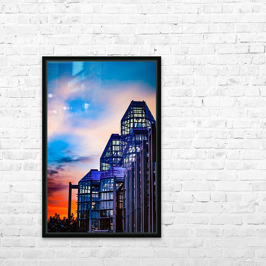 Sunset at the National Gallery of Canada HD Sublimation Metal print with Decorating Float Frame (BOX)