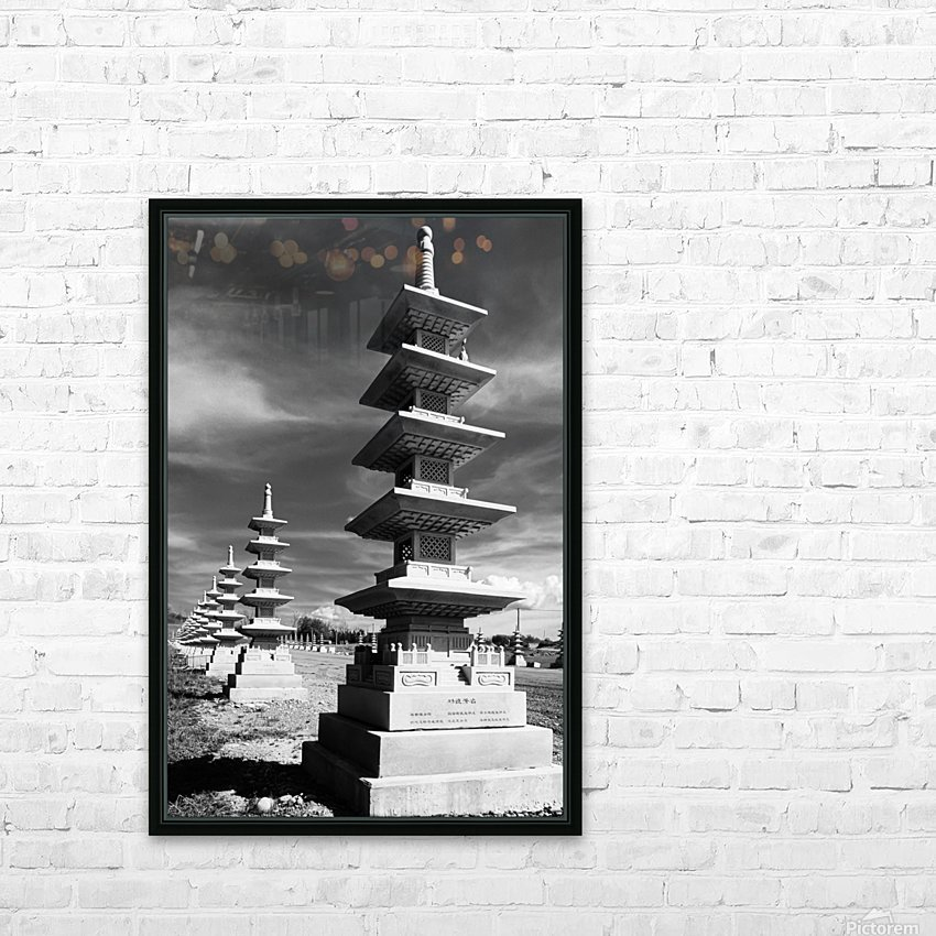 Vanishing Towers of Wutai Shan HD Sublimation Metal print with Decorating Float Frame (BOX)