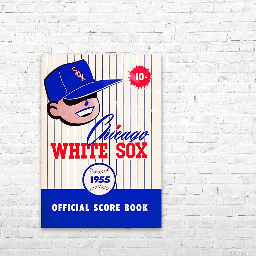 1955 chicago white sox mlb baseball score book poster HD Sublimation Metal print with Decorating Float Frame (BOX)