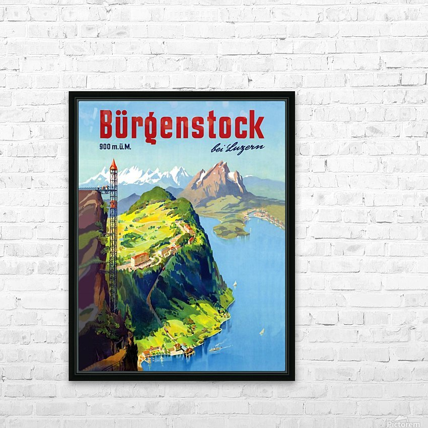 Burgenstock HD Sublimation Metal print with Decorating Float Frame (BOX)