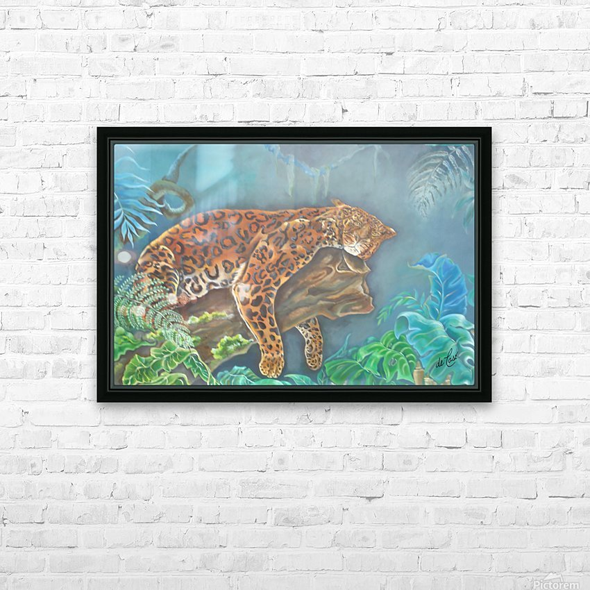 Gorgeous leopard resting in the jungle during the day HD Sublimation Metal print with Decorating Float Frame (BOX)