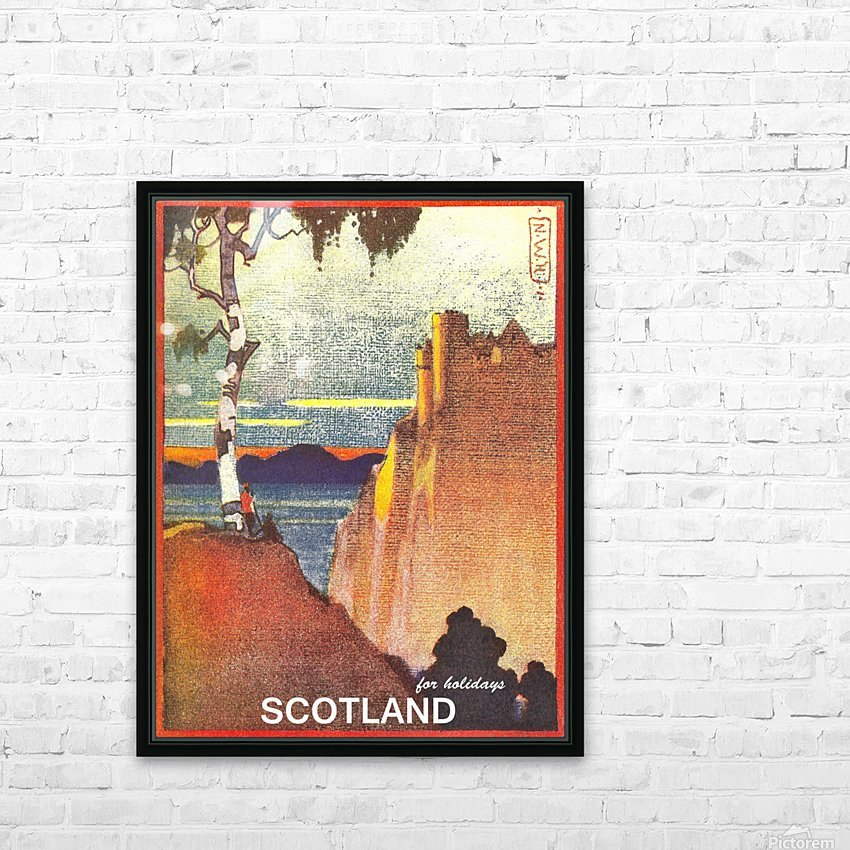 Scotland HD Sublimation Metal print with Decorating Float Frame (BOX)