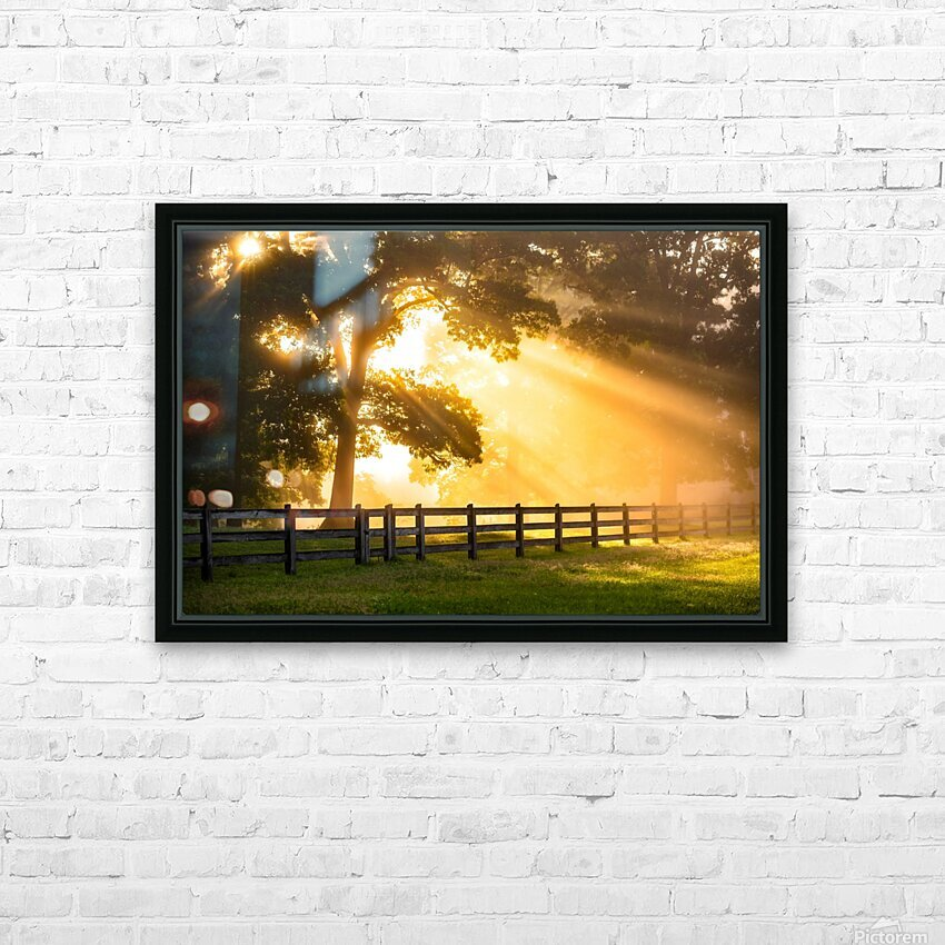 Break of Dawn HD Sublimation Metal print with Decorating Float Frame (BOX)