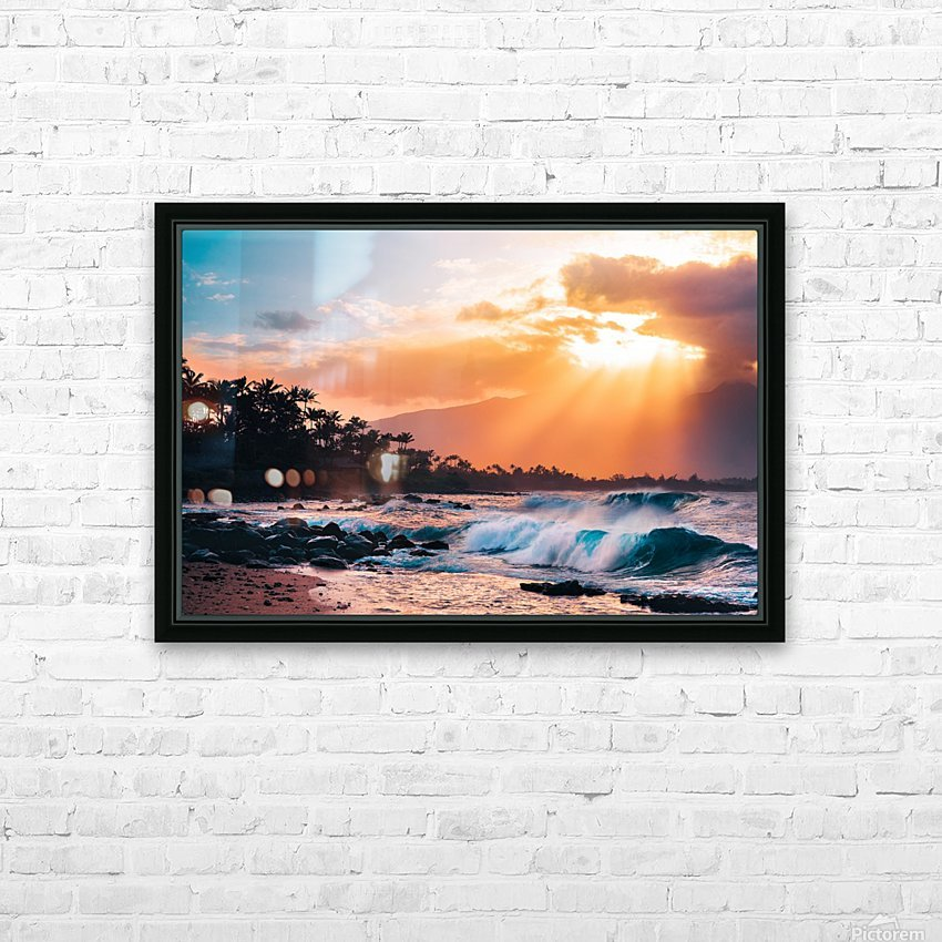 Sunset Paradise HD Sublimation Metal print with Decorating Float Frame (BOX)