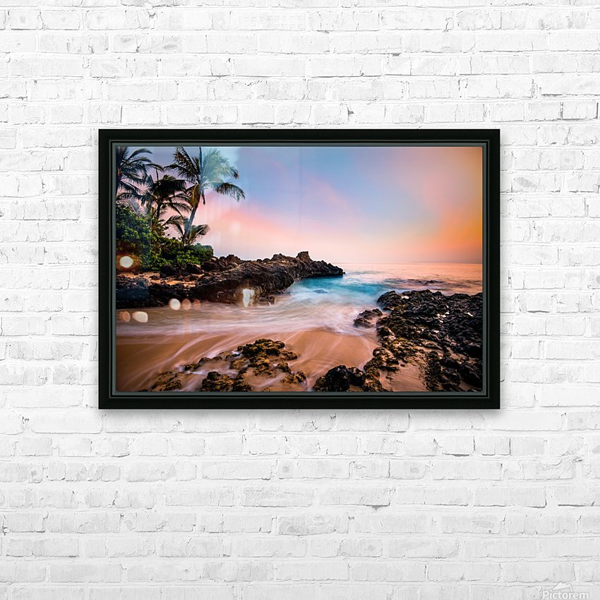 Hawaiian Paradise HD Sublimation Metal print with Decorating Float Frame (BOX)