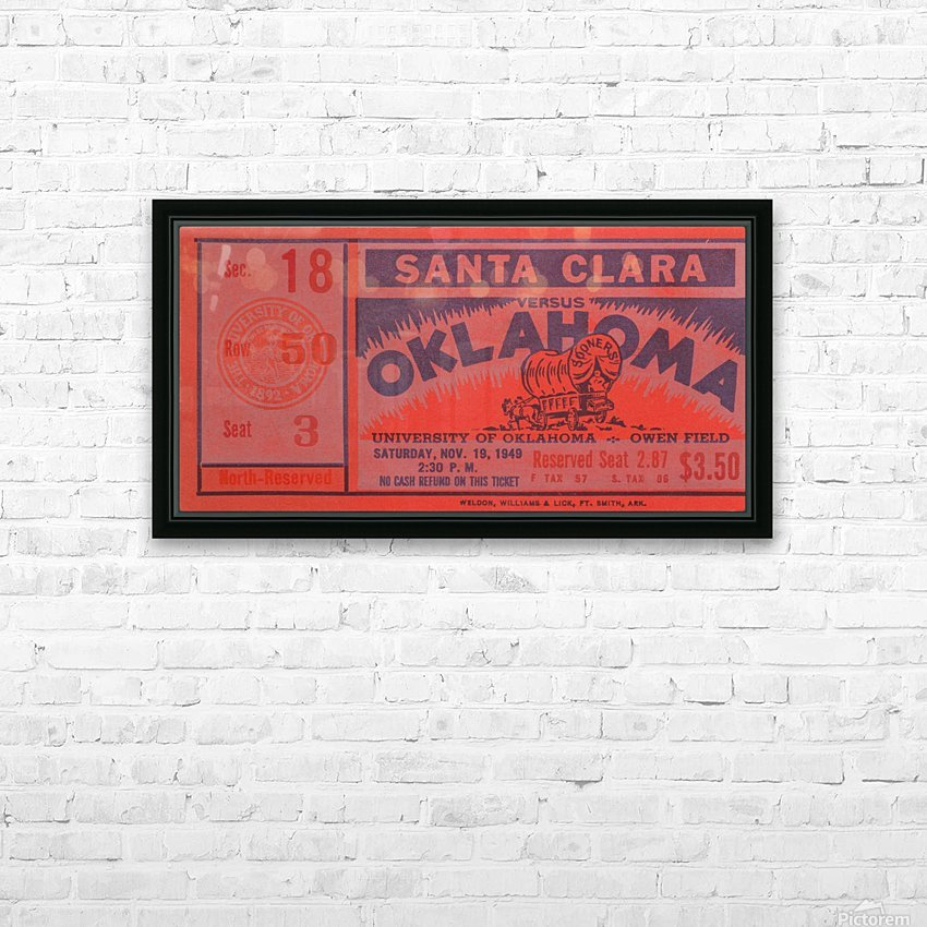 1949 oklahoma sooners bud wilkinson undefeated sooner team HD Sublimation Metal print with Decorating Float Frame (BOX)