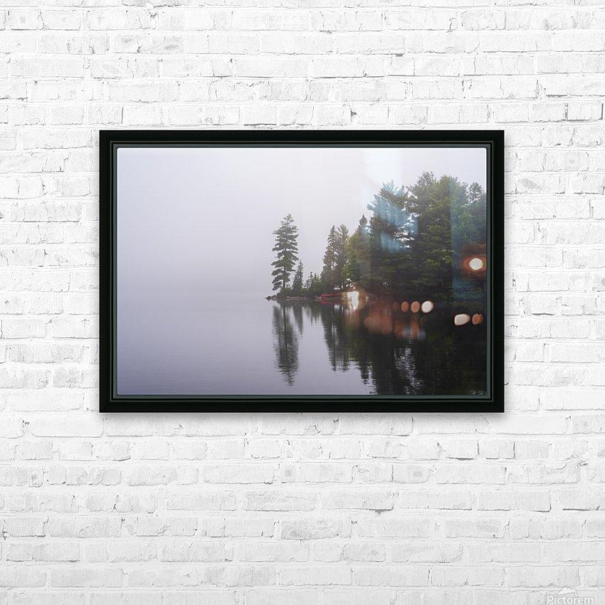 Koshlong Lake Fog HD Sublimation Metal print with Decorating Float Frame (BOX)