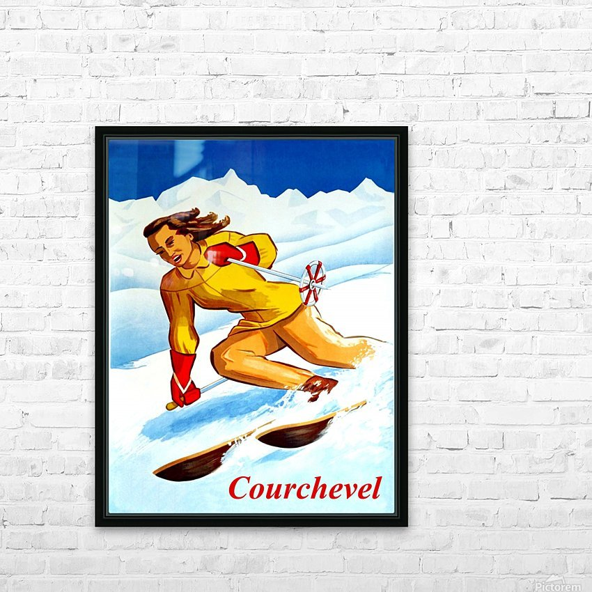 Skiing in Courchevel HD Sublimation Metal print with Decorating Float Frame (BOX)