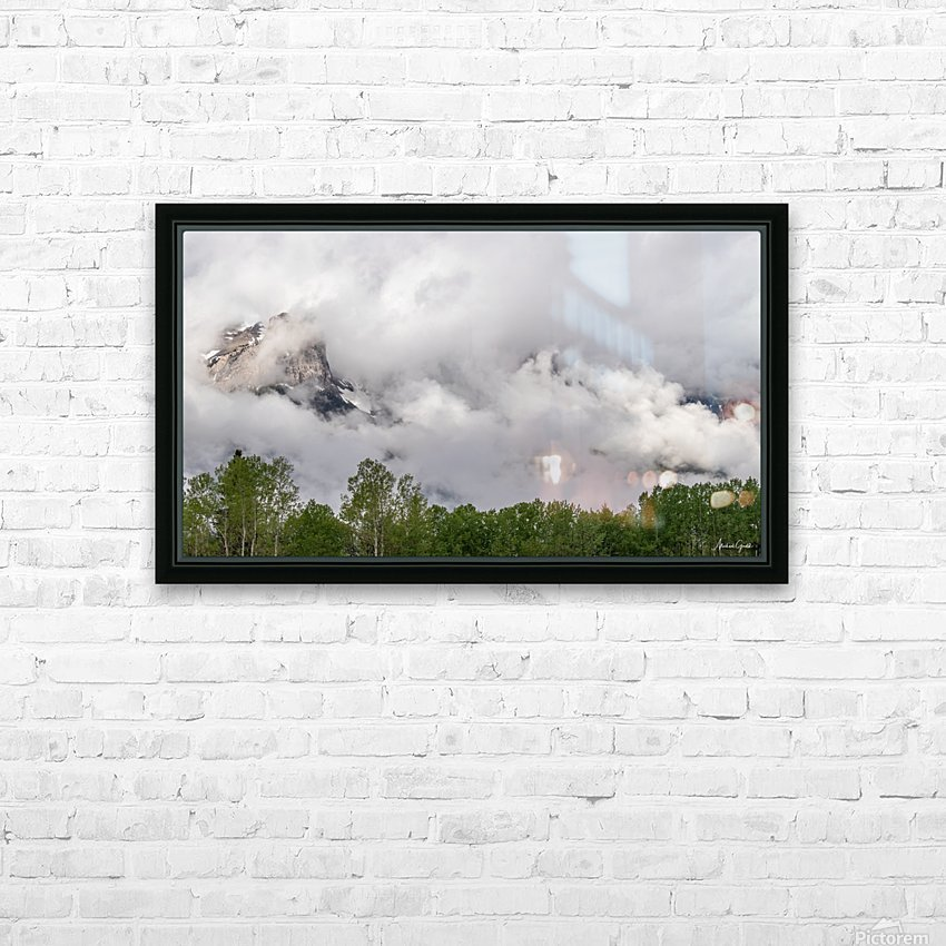 Billowy Clouds Surround Rundle Mountain HD Sublimation Metal print with Decorating Float Frame (BOX)