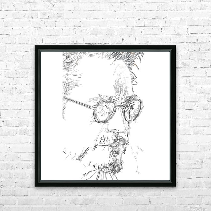 Robert Downy Jr. - Celebrity Pencil Art HD Sublimation Metal print with Decorating Float Frame (BOX)