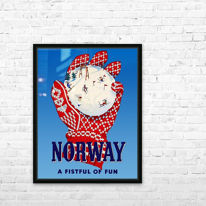 Norway Fistful of Fun HD Sublimation Metal print with Decorating Float Frame (BOX)