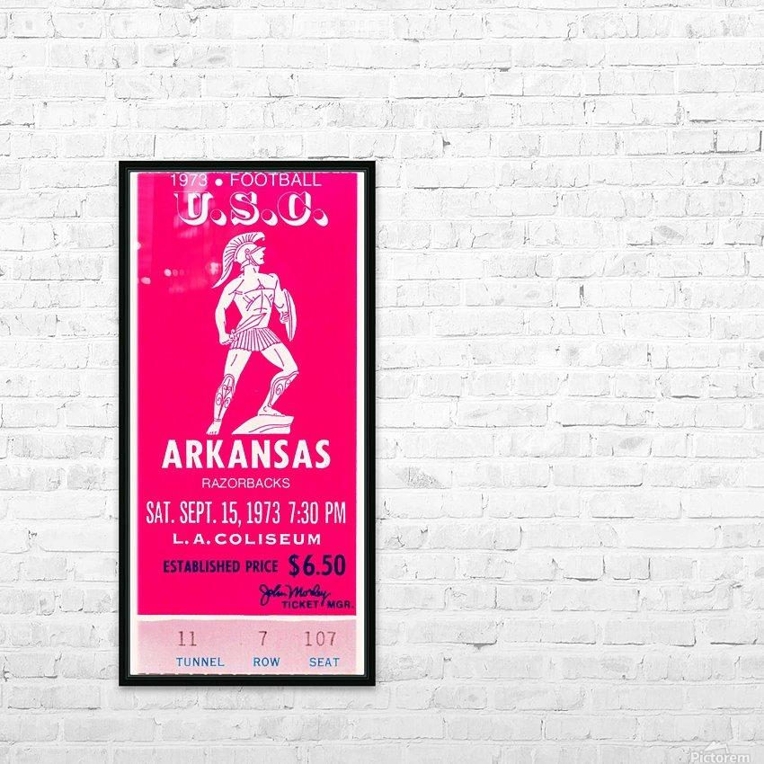 1973 usc trojans arkansas college football ticket stub art HD Sublimation Metal print with Decorating Float Frame (BOX)