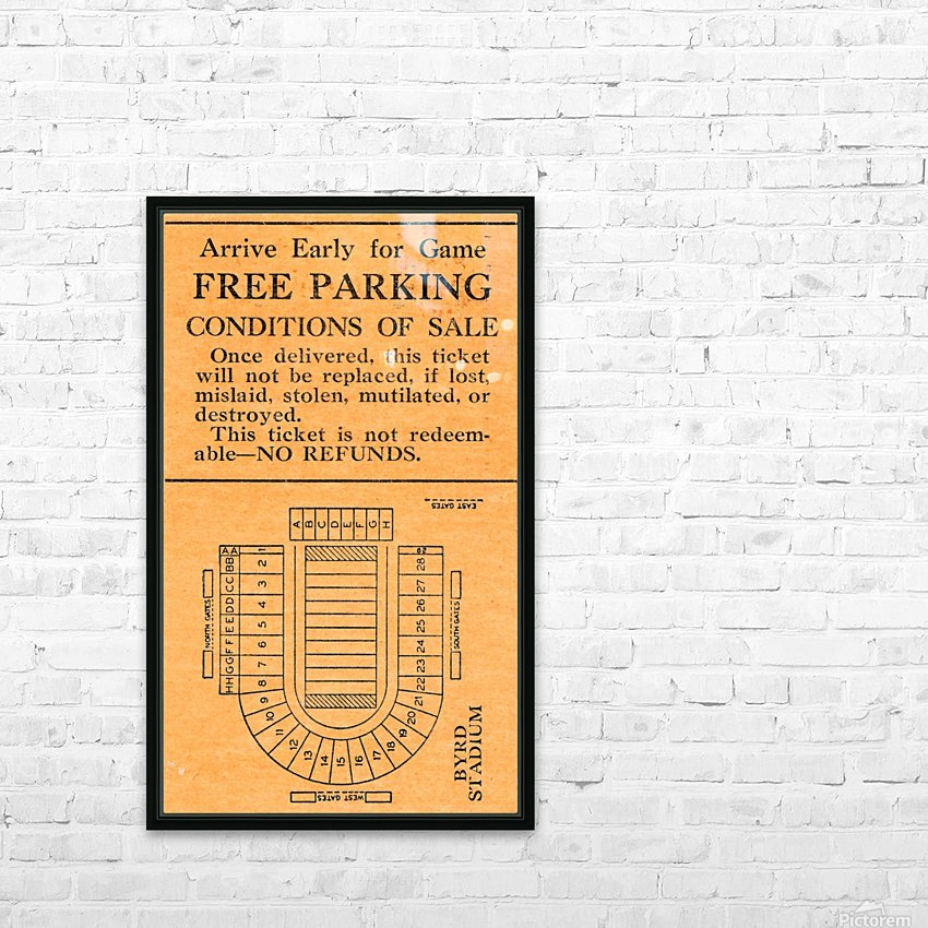 vintage college football stadium map art byrd stadium college park md HD Sublimation Metal print with Decorating Float Frame (BOX)