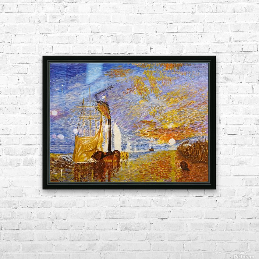 Turners The Fighting Temeraire HD Sublimation Metal print with Decorating Float Frame (BOX)