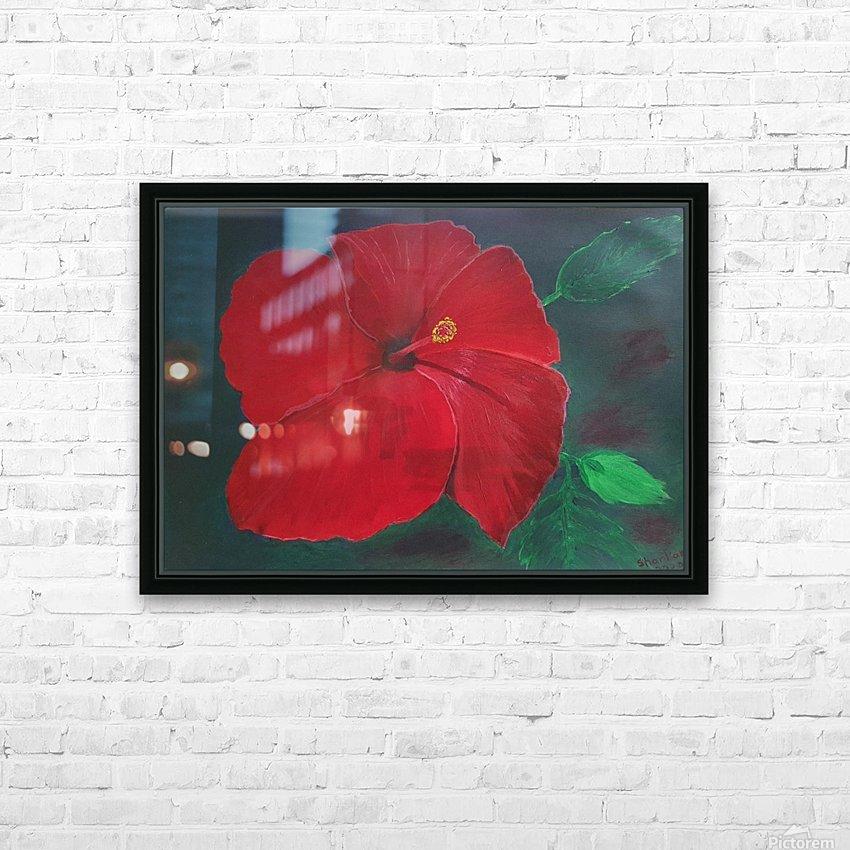 Hibiscus HD sublimation métal imprimé avec décoration flotteur cadre (boîte)