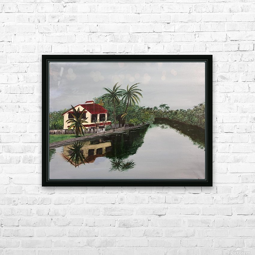 Cochin house HD Sublimation Metal print with Decorating Float Frame (BOX)