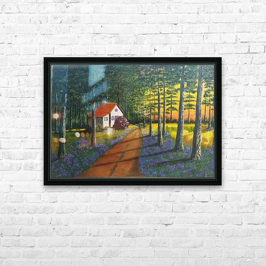 Forest retreat1 HD Sublimation Metal print with Decorating Float Frame (BOX)