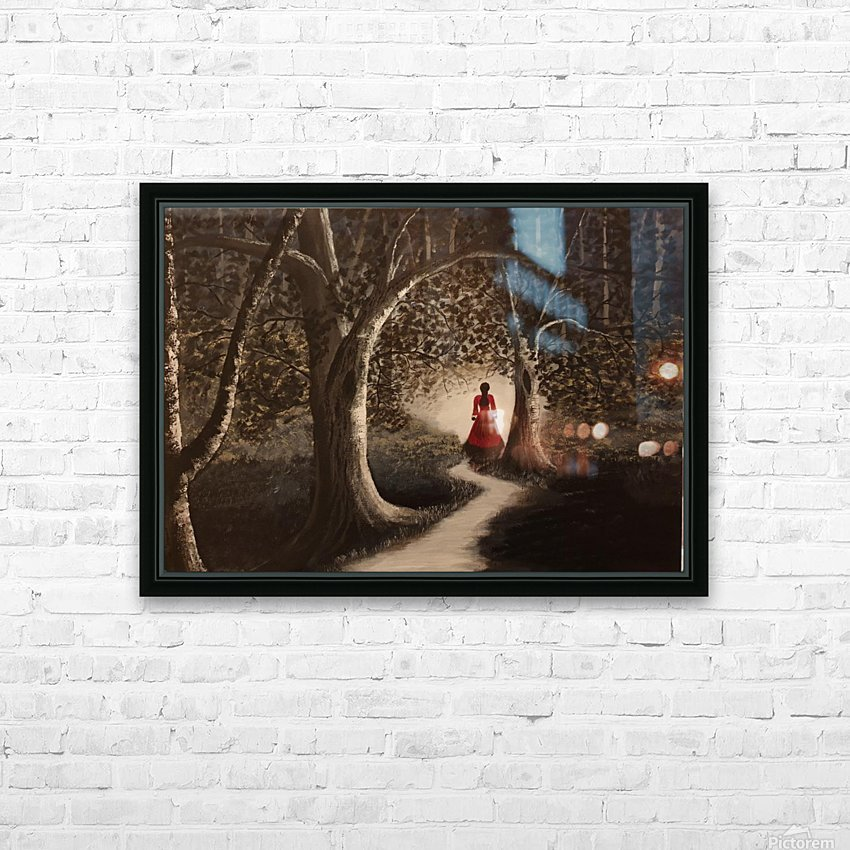 Lady in red2 HD Sublimation Metal print with Decorating Float Frame (BOX)