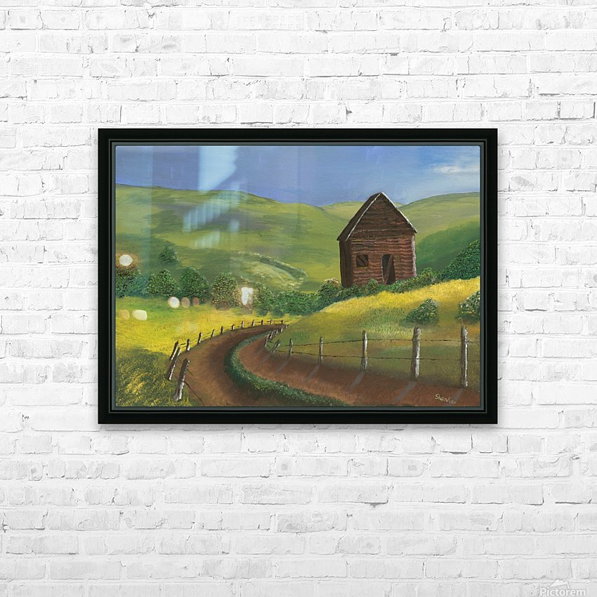 Abandoned cabin copy HD Sublimation Metal print with Decorating Float Frame (BOX)