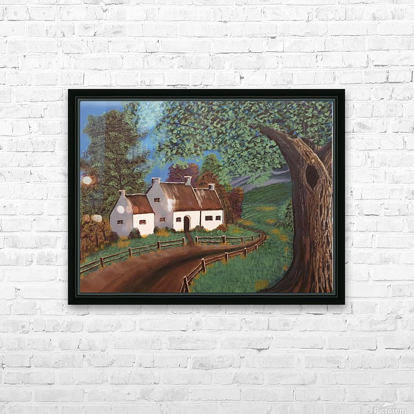 Summer cottage HD Sublimation Metal print with Decorating Float Frame (BOX)
