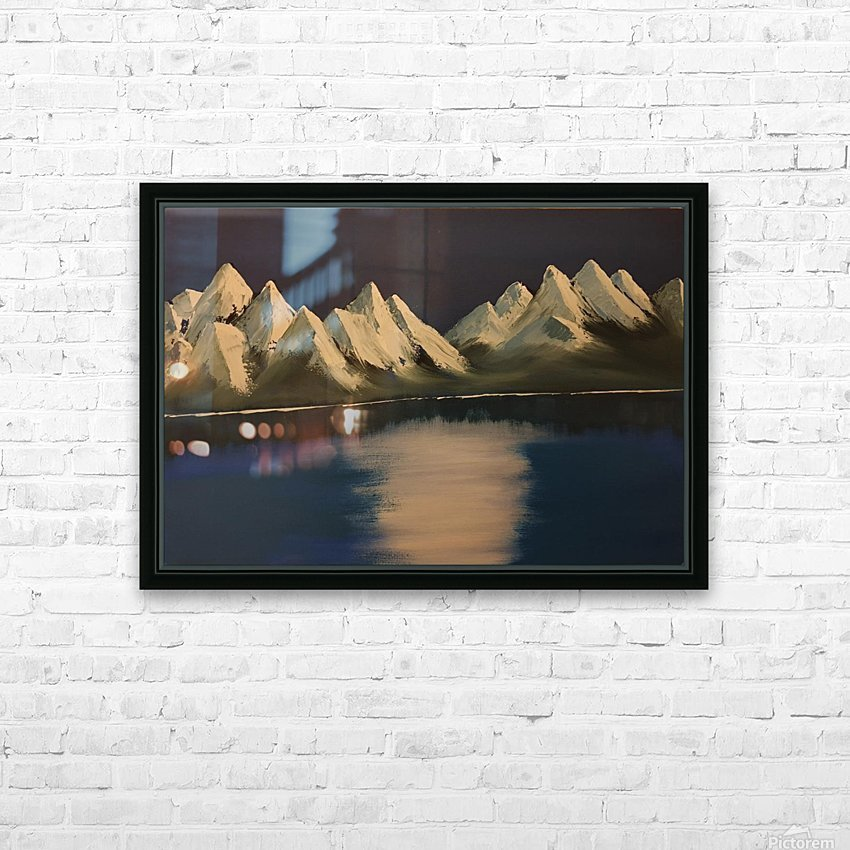 Pangong Lake HD Sublimation Metal print with Decorating Float Frame (BOX)