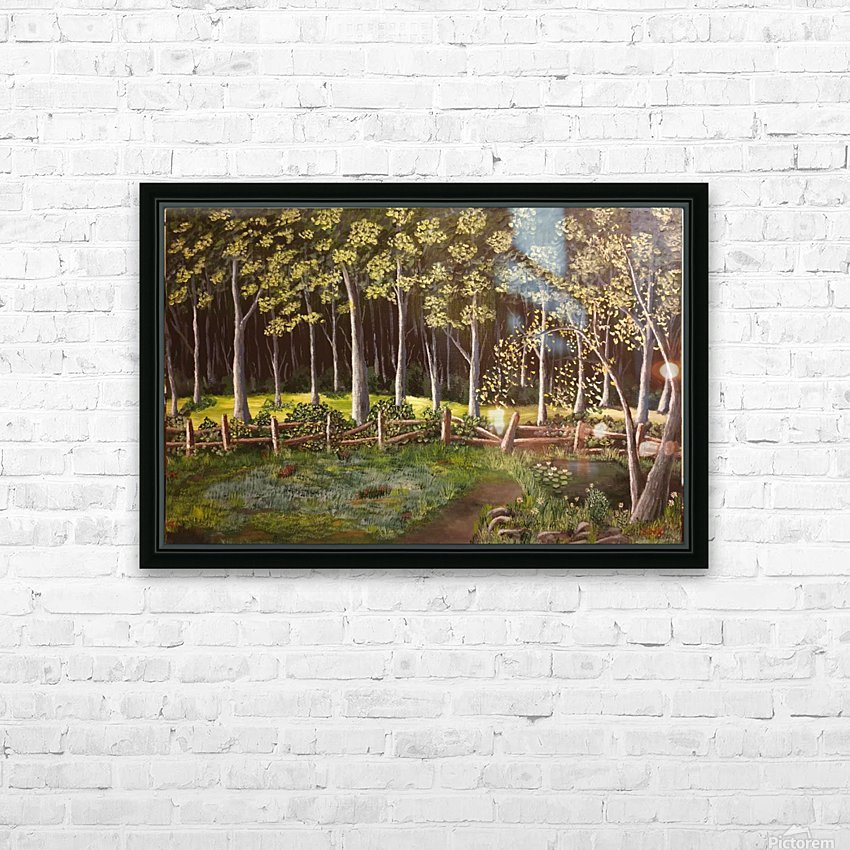Forest HD Sublimation Metal print with Decorating Float Frame (BOX)