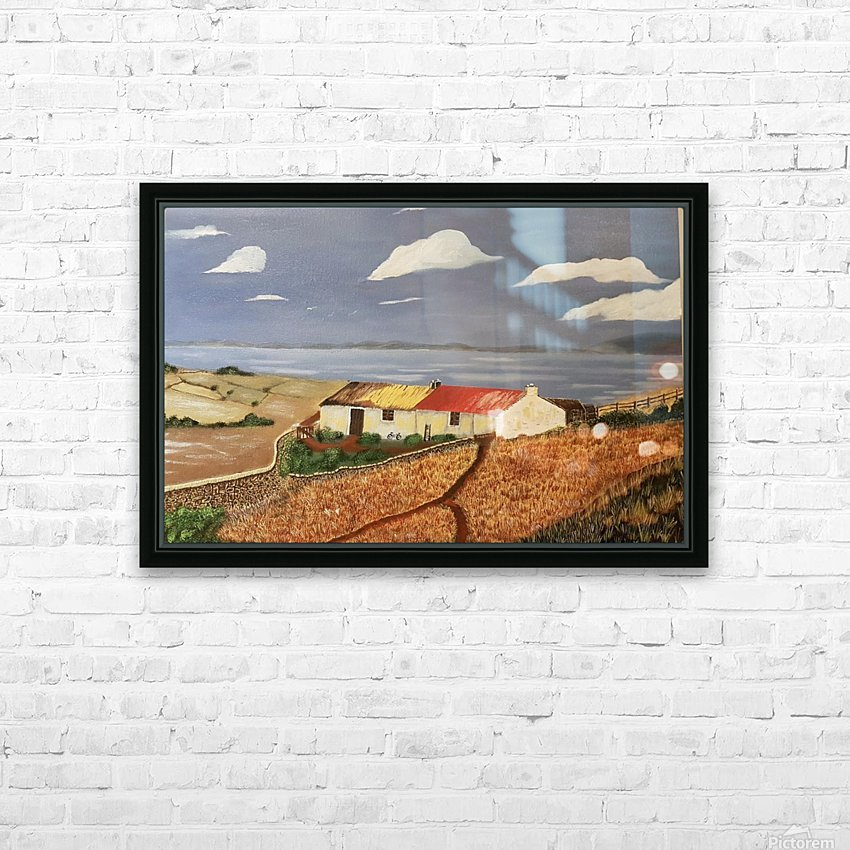 Fishermans cottage HD Sublimation Metal print with Decorating Float Frame (BOX)