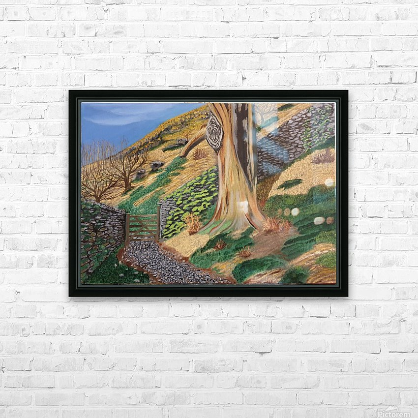 Path to Rydal Mount HD Sublimation Metal print with Decorating Float Frame (BOX)