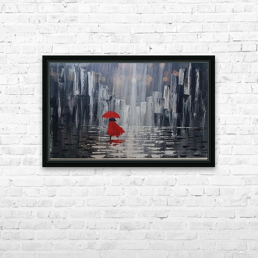 lady in red HD Sublimation Metal print with Decorating Float Frame (BOX)