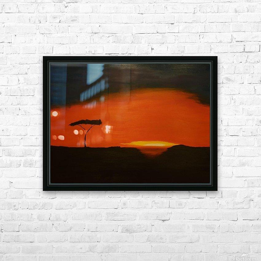 Sunrise of Serengeti HD Sublimation Metal print with Decorating Float Frame (BOX)