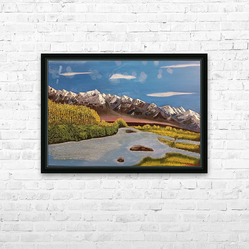 River Indus HD Sublimation Metal print with Decorating Float Frame (BOX)