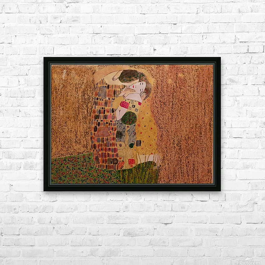 Kiss by Klimt HD Sublimation Metal print with Decorating Float Frame (BOX)