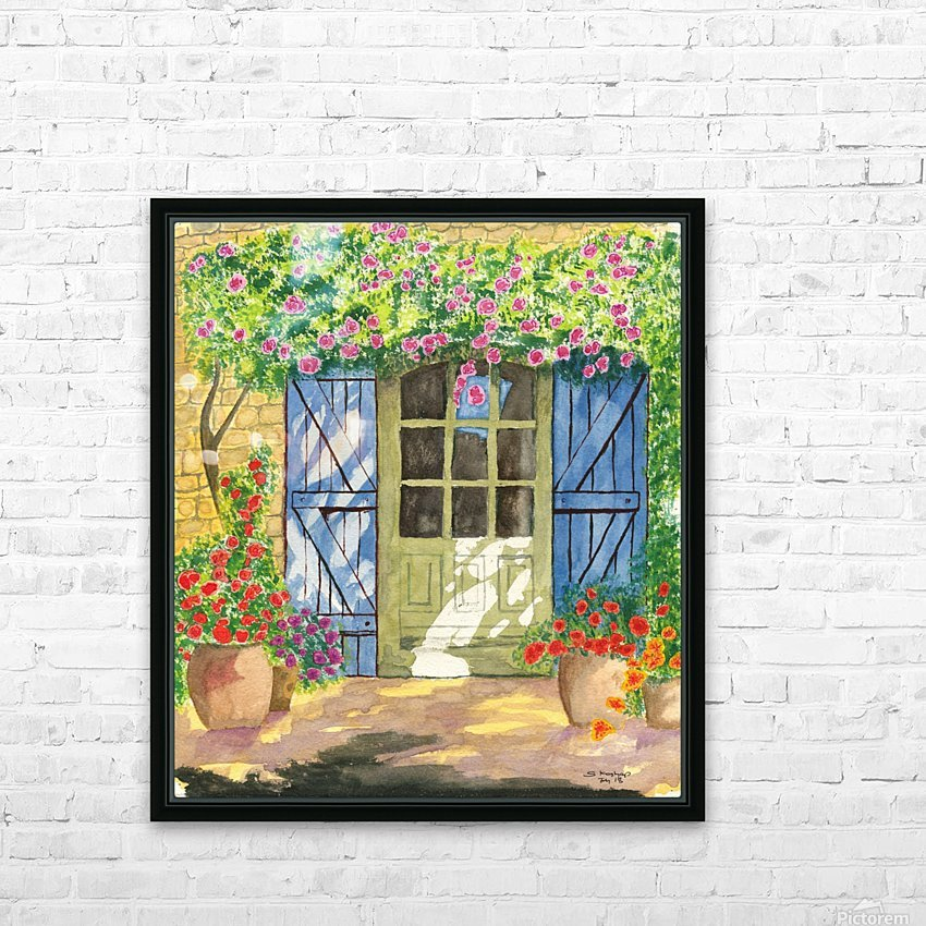 Rose cottage HD Sublimation Metal print with Decorating Float Frame (BOX)