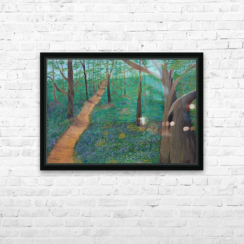 Bluebell woods oxford HD Sublimation Metal print with Decorating Float Frame (BOX)