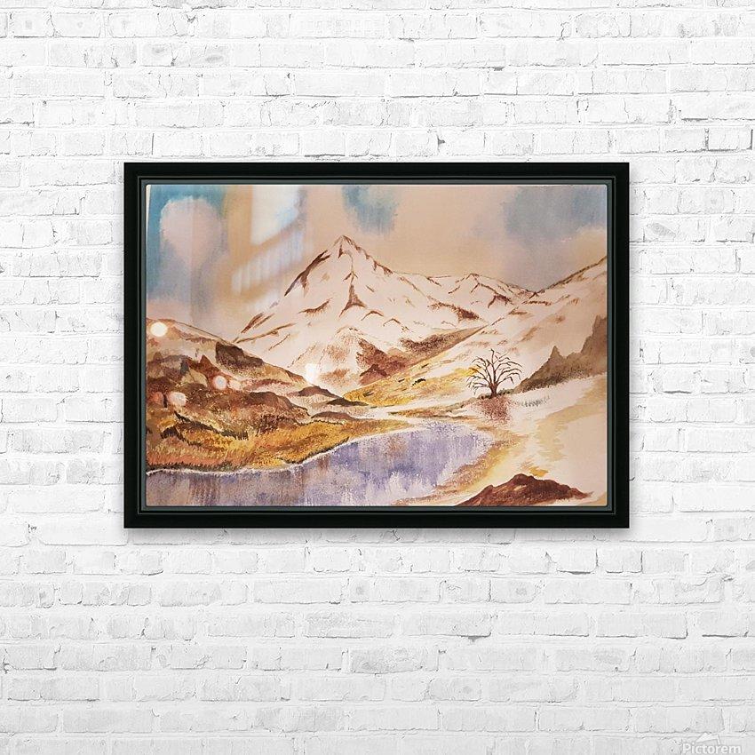 Ladakh Stream HD Sublimation Metal print with Decorating Float Frame (BOX)