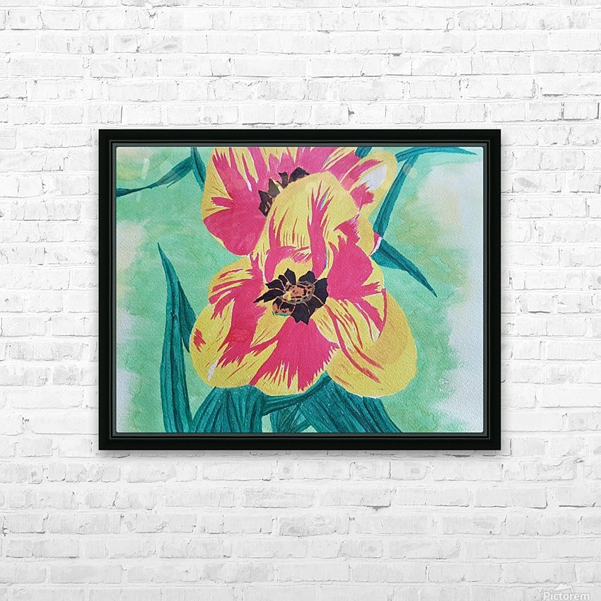 Flowers1 HD Sublimation Metal print with Decorating Float Frame (BOX)