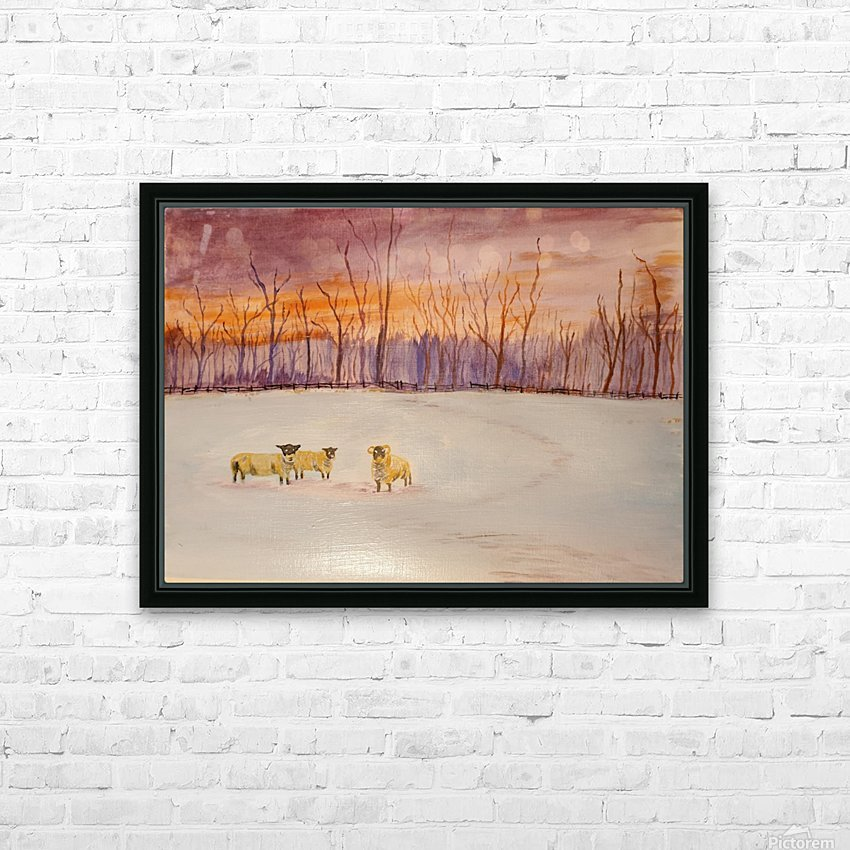 Cumbrian winter  HD Sublimation Metal print with Decorating Float Frame (BOX)