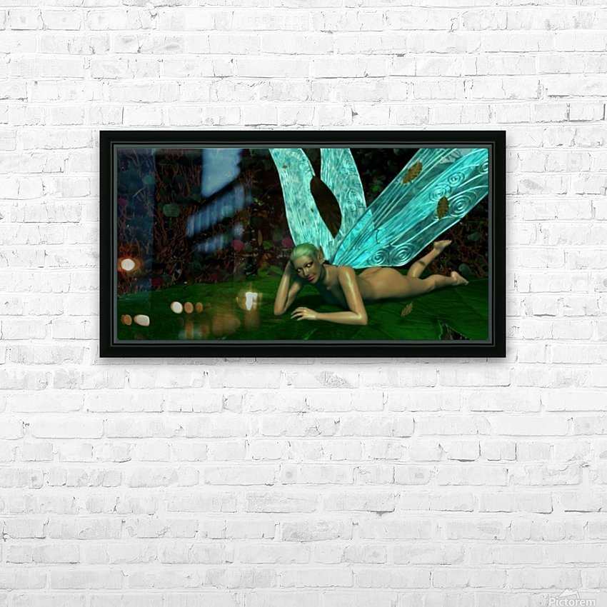 Resting Fae HD Sublimation Metal print with Decorating Float Frame (BOX)