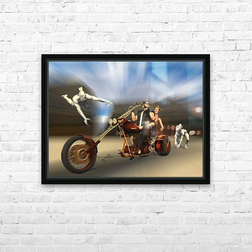 Desert Ride HD Sublimation Metal print with Decorating Float Frame (BOX)