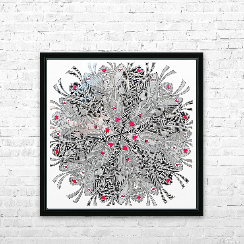 flower of hearts HD Sublimation Metal print with Decorating Float Frame (BOX)