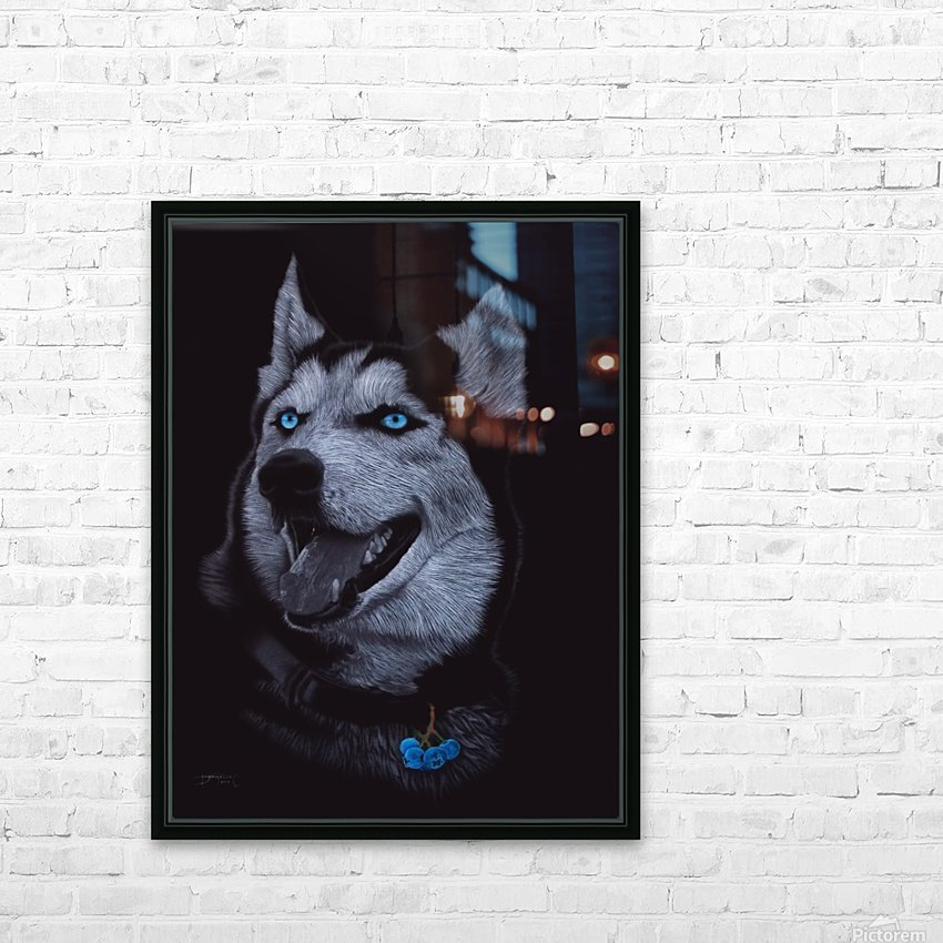 HUSKY_COLOR PENCIL_65.50X80.50 HD Sublimation Metal print with Decorating Float Frame (BOX)