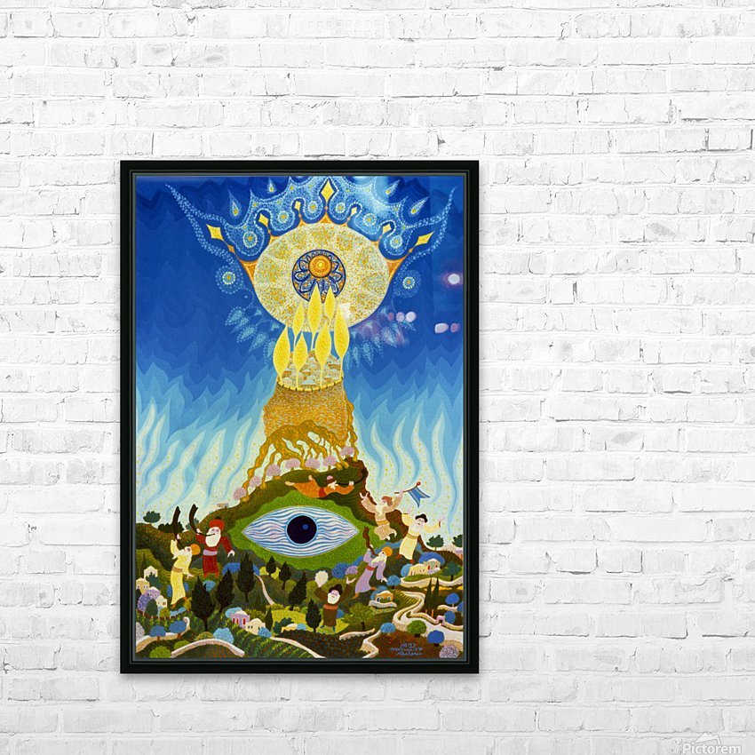 1987 023 HD Sublimation Metal print with Decorating Float Frame (BOX)