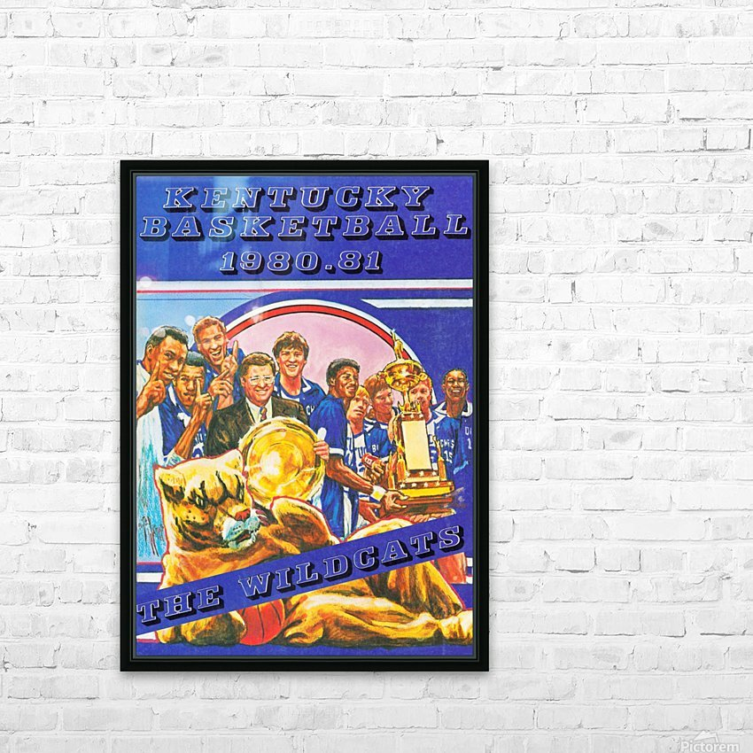 1980 kentucky wildcats basketball poster ted watts sports artist HD Sublimation Metal print with Decorating Float Frame (BOX)