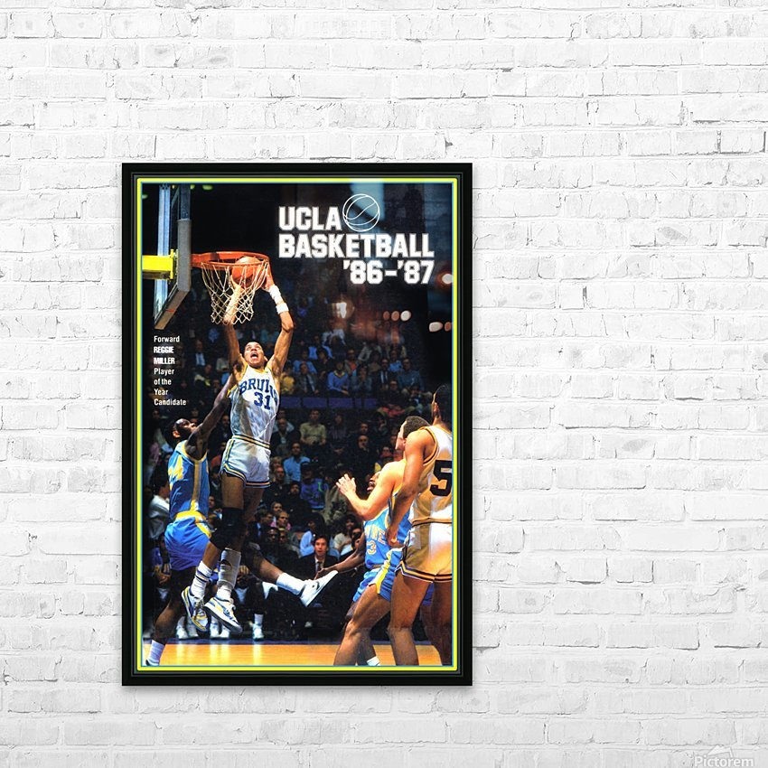 1986 ucla basketball reggie miller poster HD Sublimation Metal print with Decorating Float Frame (BOX)