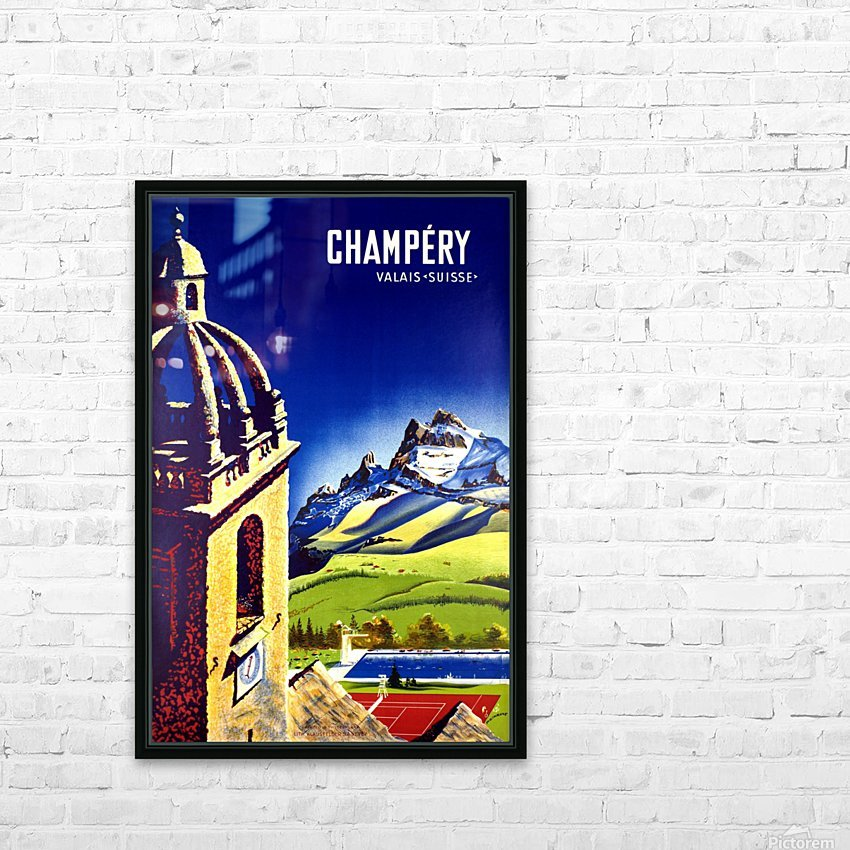 Champery HD Sublimation Metal print with Decorating Float Frame (BOX)