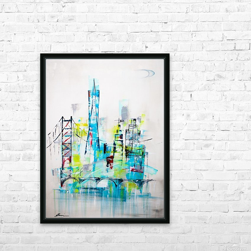 San Francisco skyline HD Sublimation Metal print with Decorating Float Frame (BOX)