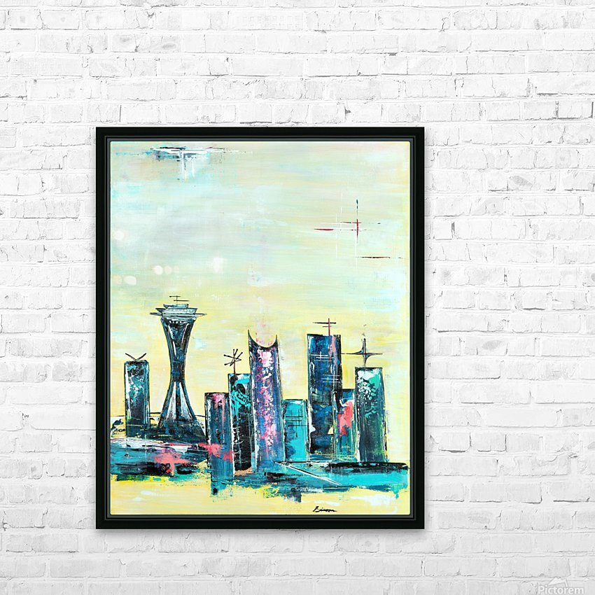 Uptown Seattle  HD Sublimation Metal print with Decorating Float Frame (BOX)
